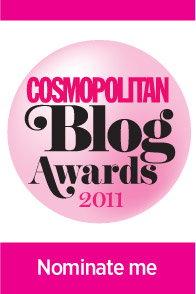 cosmo blog award button