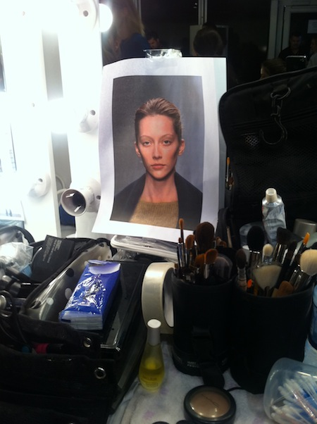 Backstage Beauty at Jaeger