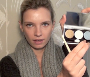 a model recommends dior autumn beauty