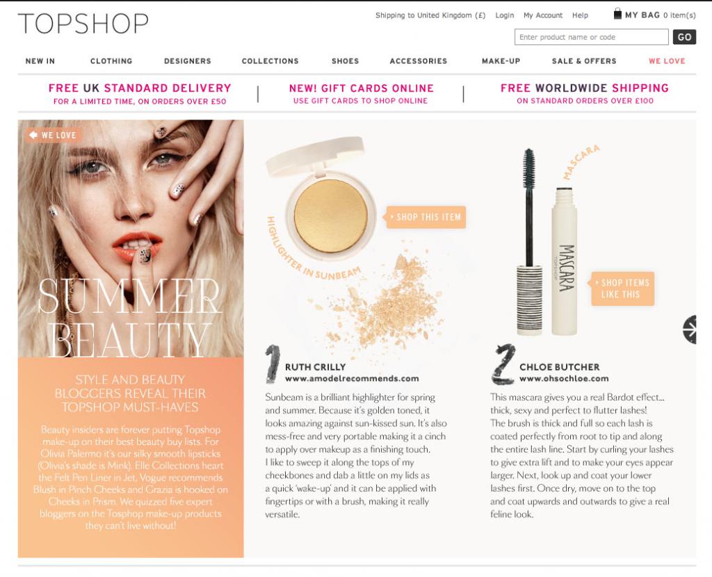 makeup expert topshop