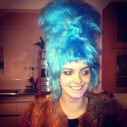 kate crilly in a wig