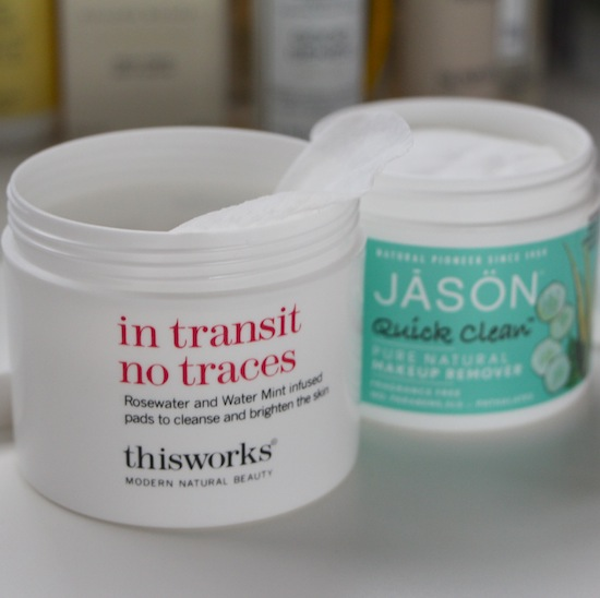 This works in transit no traces cleansing pads