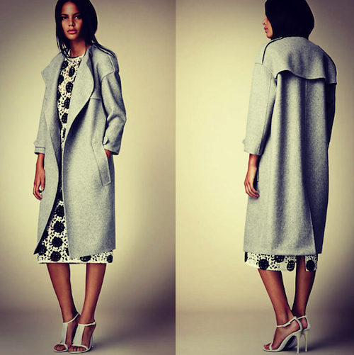 burberry ss14 double cashmere coat