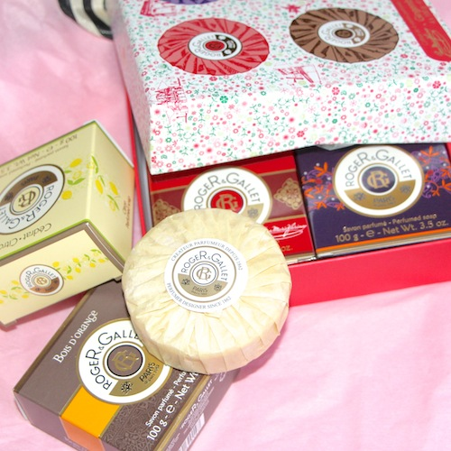 roger and gallet soap set