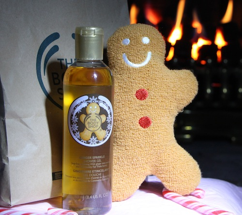 gingerbread man bath gift