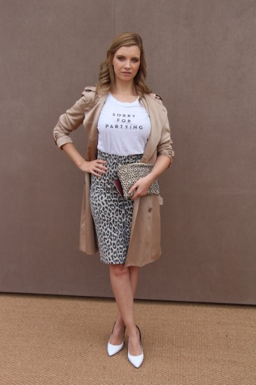 ruth crilly burberry show outfit