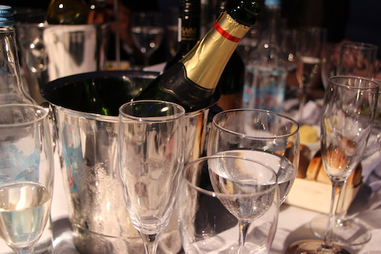 brit awards champagne table