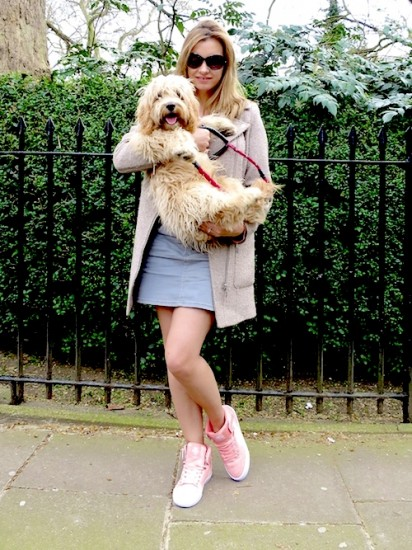 ruth crilly with dexter cockapoo