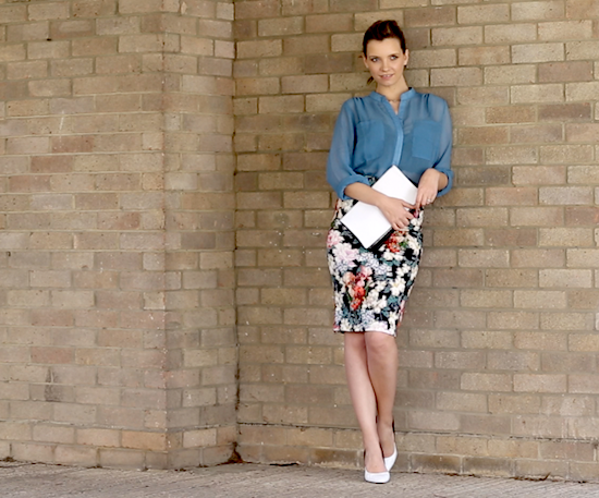 style blog how to wear pencil skirt