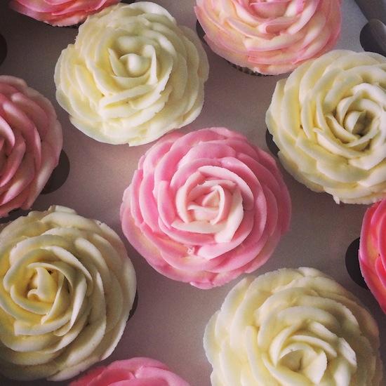 amazing rose cupcakes