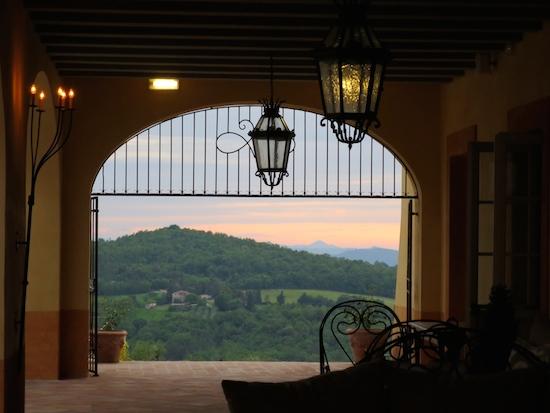 castello di casole sunset