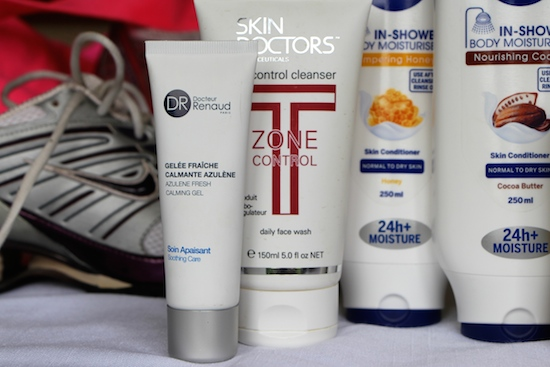 workout skincare and bodycare