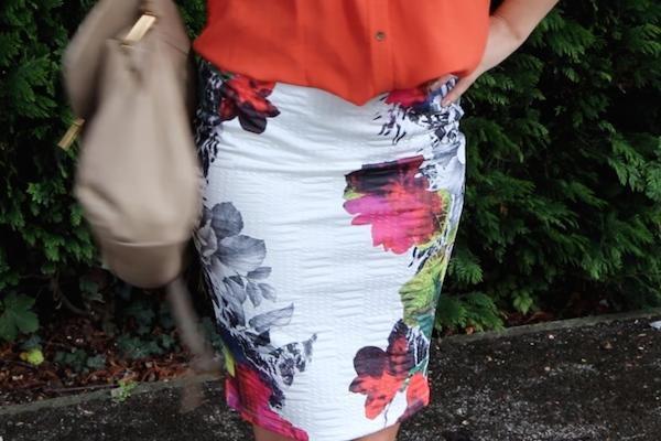 floral asos skirt
