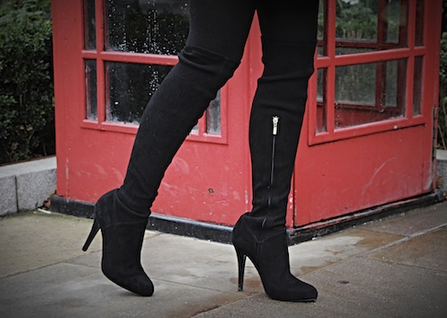 karen millen over knee suede boots
