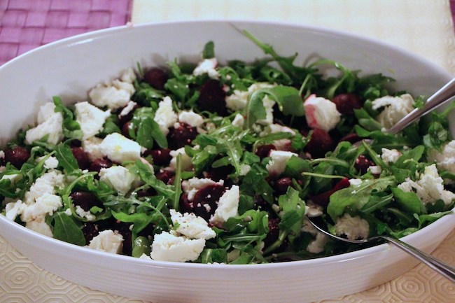 goat cheese beetroot salad