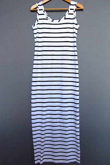 asos striped maxi dress