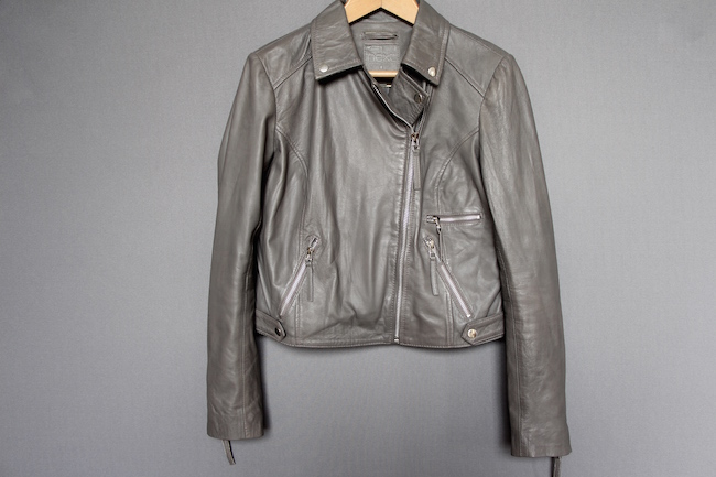 next grey leather jacket