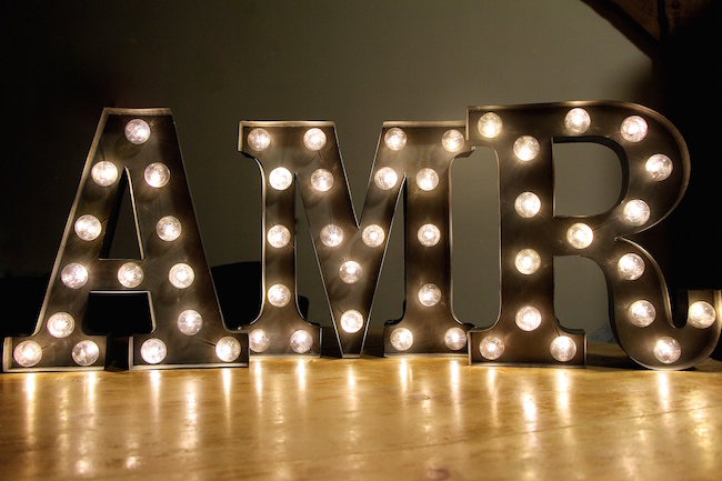 rocket and rye carnival letter lights