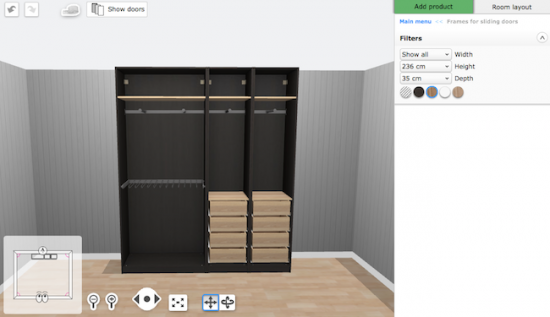 The IKEA PAX Wardrobe Planner