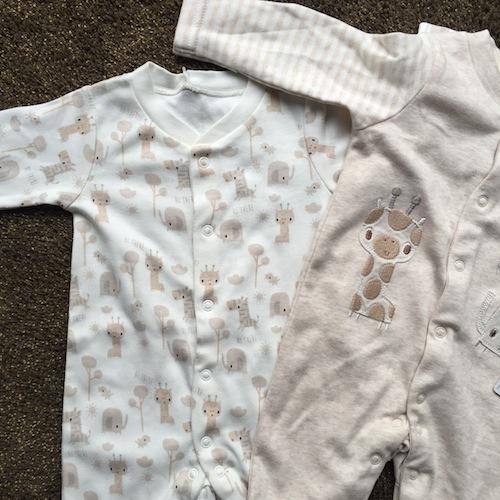 unisex safaro babygrow sleepsuits mothercare