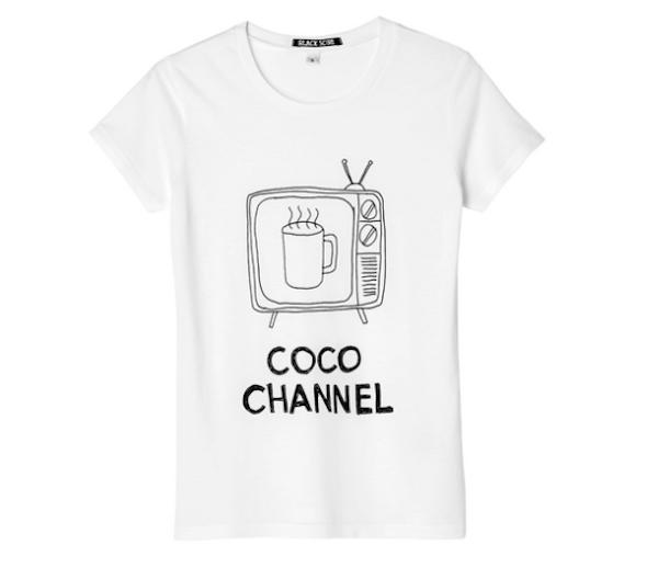 black score cocoa channel t-shirt