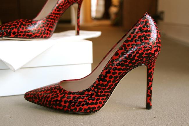 lk bennett python random spot heels