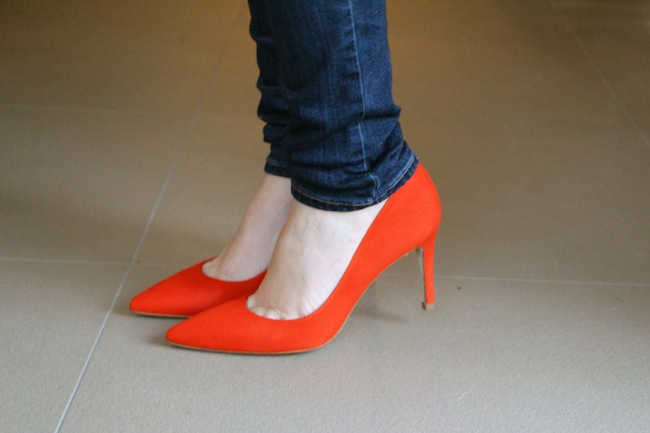 Red Shoes Two Ways | A Model Recommends