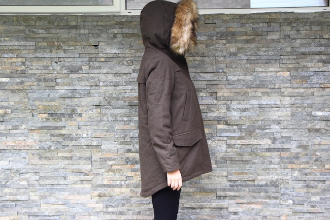 parka london coat with fur