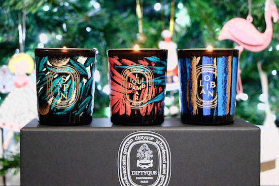 diptyque christmas holiday candles set