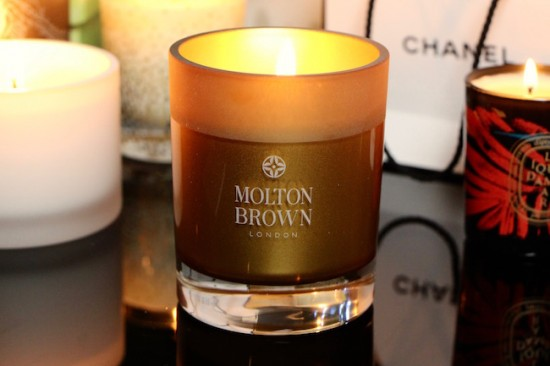 molton brown oudh accord and gold candle