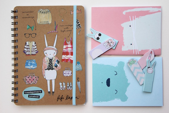 fifi lapin notebook