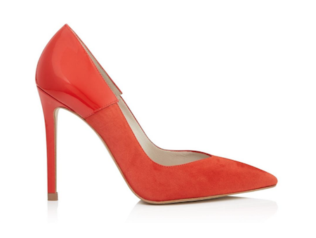 karen millen orange high heel pointed toe court shoes