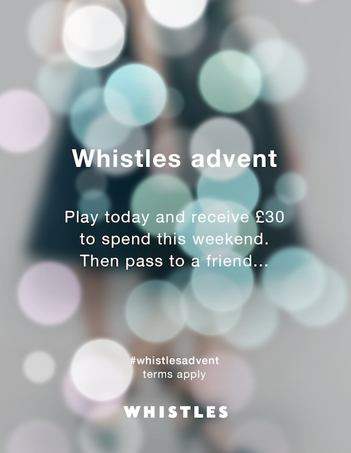 whistles offer 30 to spend online