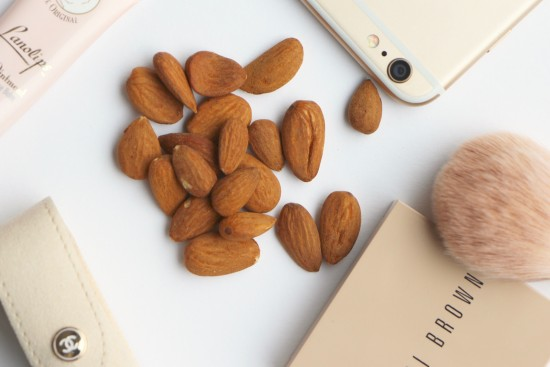 healthy snack almonds