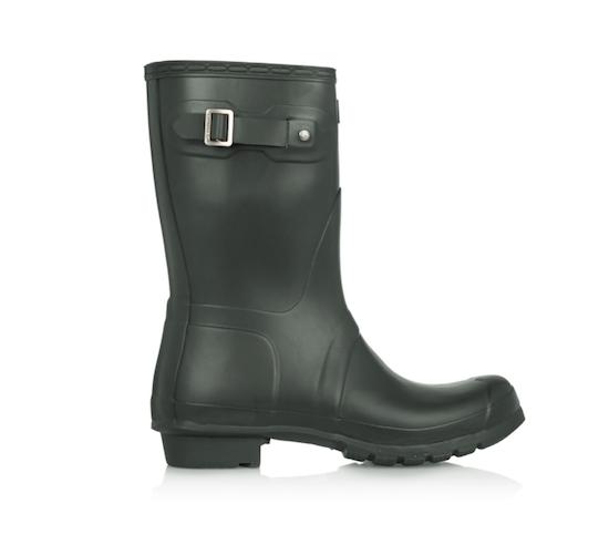 short hunter wellington boots