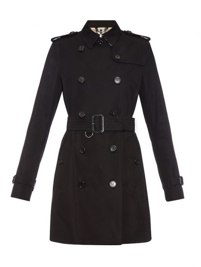 burberry black kensington trench coat