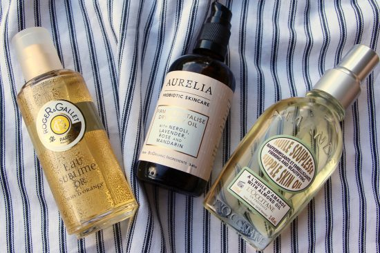 dry body oils