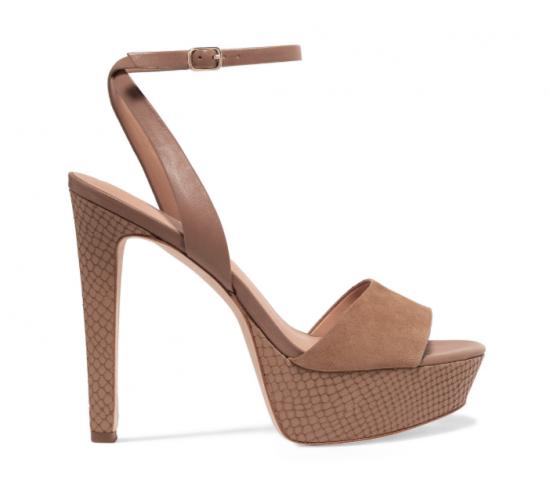 halston heritage suede heels