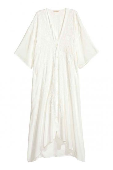hm embroidered white dress
