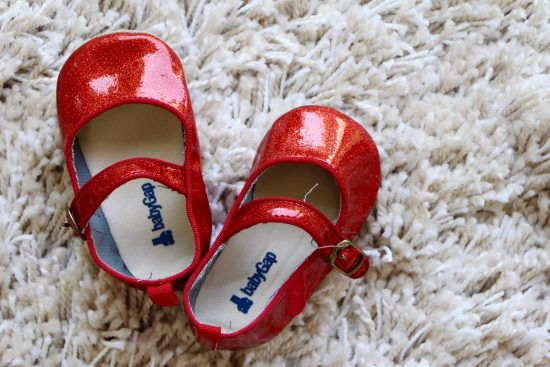 baby gap red shoes dorothy