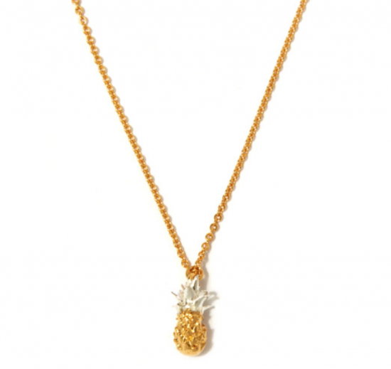 liberty pineapple gold pendant