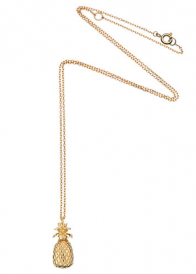 estella bartlett pineapple gold pendant