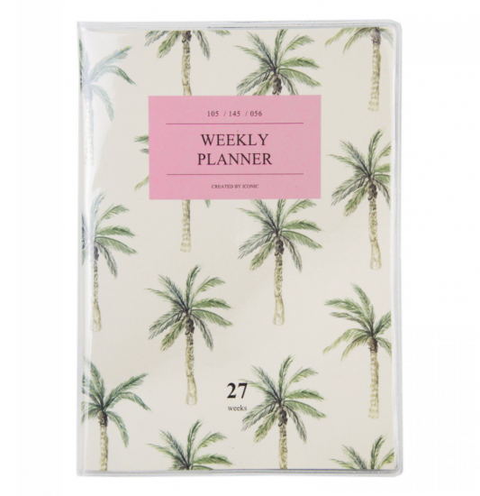 palm tree weekly notes diary