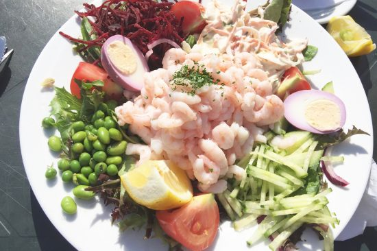 prawn salad at the pub