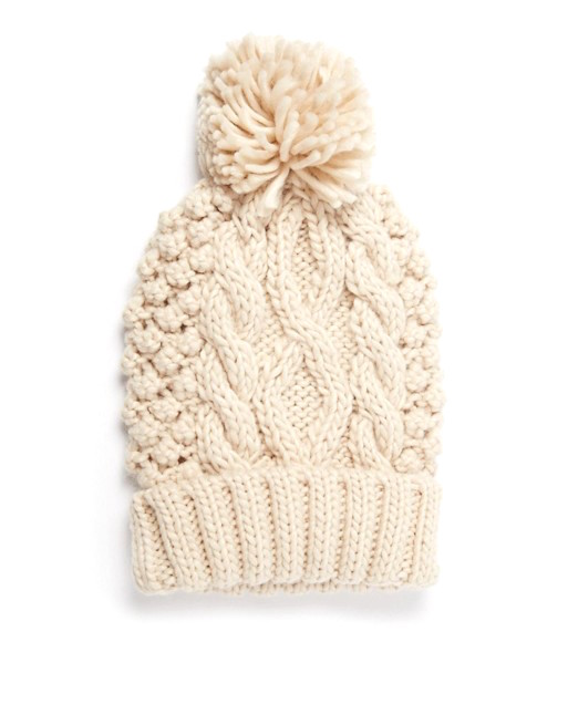 asos knitted cable knit hat