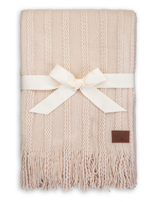 ugg fine cable knit blanket