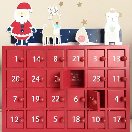 wooden advent calendar gltc