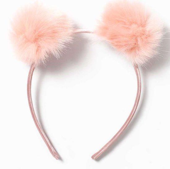 topshop pink pom pom headband
