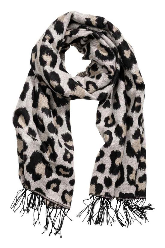 hm leopard print scarf