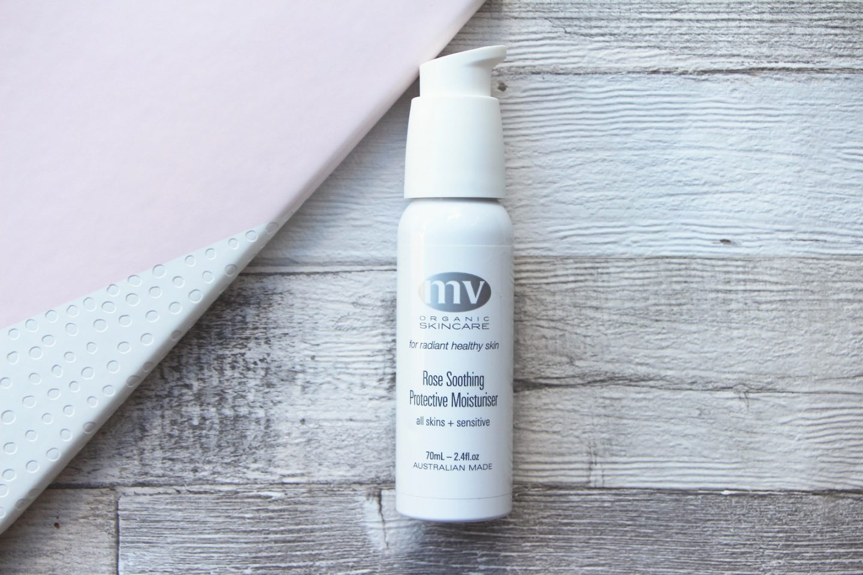 mv organic skincare rose moisturiser